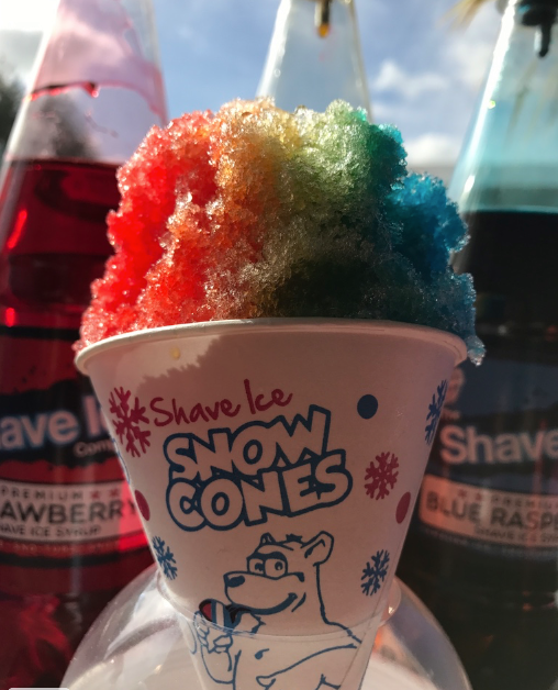 Snow Cones product close up.