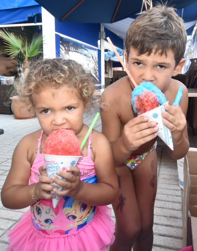 Snow Cones loved by kids.