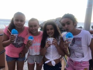 Girls loving their Snow Cones.