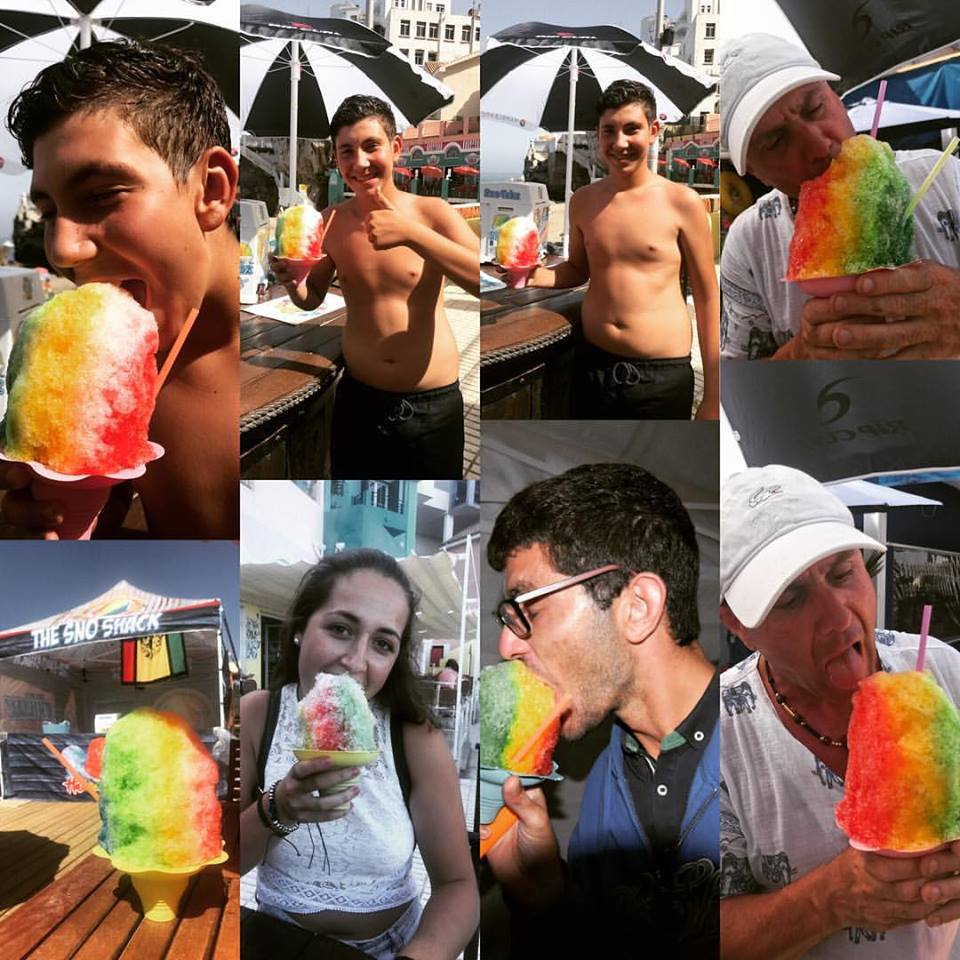Hawaiian Ice collage