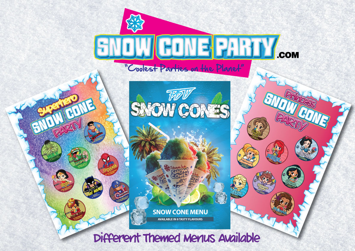 Snow Cones Parties and themed events – Now nationwide.
