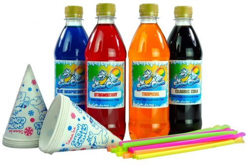 Home Snow Cone 500ml Mix and match 4 pack.