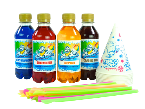 Home Snow Cone (250ml) Syrup Rainbow 4 Pack