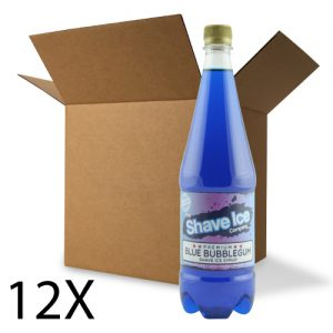 Case of Blue Bubblegum Shave Ice/Snow Cone Syrup