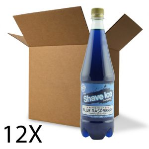 Case of Blue Raspberry Shave Ice/Snow Cone Syrup