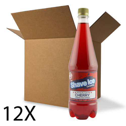 Case of Cherry Shave Ice/Snow Cone Syrup