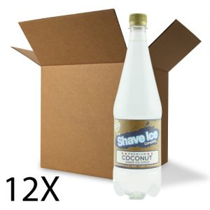 Case of Coconut Shave Ice/Snow Cone Syrup
