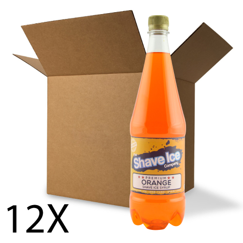 Case of Orange Shave Ice/Snow Cone Syrup