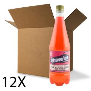 Case of Pink Bubblegum Shave Ice/Snow Cone Syrup