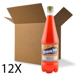 Case of Peach Shave Ice/Snow Cone Syrup