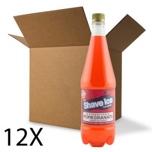 Case of Pomegranate Shave Ice/Snow Cone Syrup