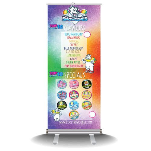 Snow Cone Pop up Banner