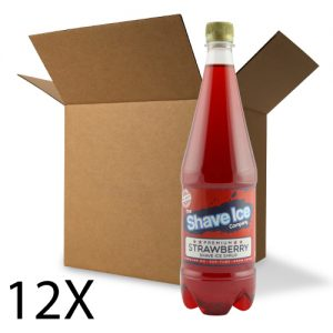 12 x 1 Litre Shave Ice Syrup Single Flavour Case