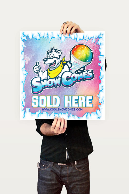 Snow Cones Sold Here Sign