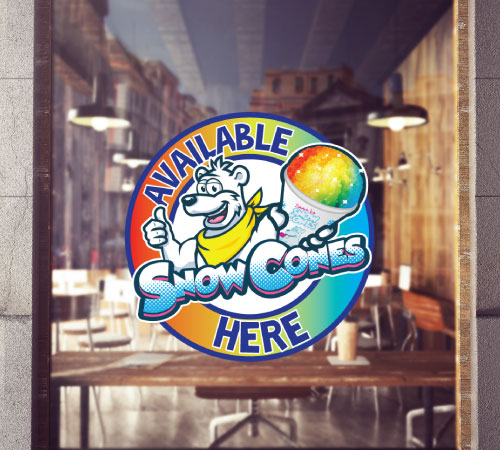 Snow Cone Available Here Stickers
